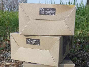 Base astucci riciclati al 100%