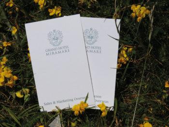 Biglietti da visita in carta riciclata