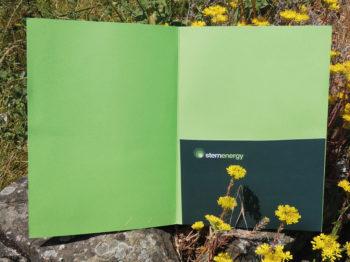 Cartelletta in carta green